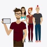 Selfie design,  illustration. Stock Images