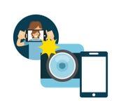 Selfie design Royalty Free Stock Photos