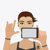 Selfie design, vector illustration. Royalty Free Stock Photos