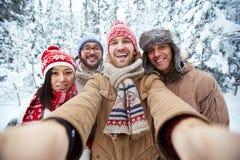 Selfie di inverno Immagine Stock