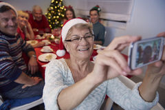 Selfie di Natale Fotografia Stock