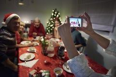 Selfie di Natale Immagini Stock Libere da Diritti