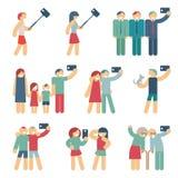 Selfie diagram av folk vektor illustrationer