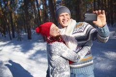 Selfie do inverno foto de stock