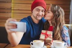 Selfie dos Valentim Foto de Stock