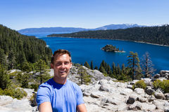 Selfie in Emerald bay Royalty Free Stock Photo