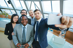 Selfie of employees Stock Image
