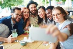 Selfie en café Imagen de archivo libre de regalías