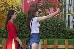 Selfie es nueva tendencia cultural Foto de archivo libre de regalías