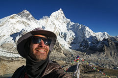 Selfie With Everest Royalty Free Stock Image
