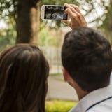 Selfie für Liebe Stockfotos