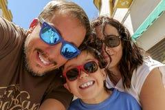 Selfie familj Royaltyfri Fotografi