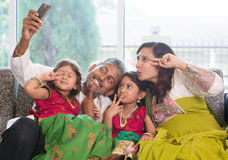 Selfie family Stock Images