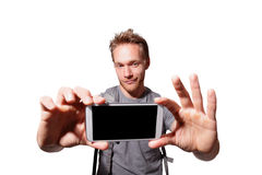 Selfie feliz del hombre Foto de archivo libre de regalías