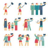 Selfie figures of people Royalty Free Stock Image