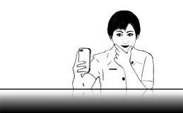 Selfie flicka Arkivfoton