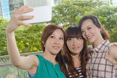 Selfie with friends Royalty Free Stock Photos