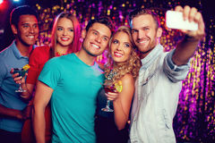 Selfie of friends Royalty Free Stock Photography