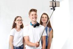Selfie friends. royalty free stock photo