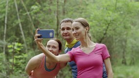 Selfie with friends stock video footage