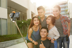 Selfie with friends Stock Photo