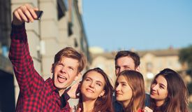 Selfie friendship memories leisure dating concept Royalty Free Stock Photos
