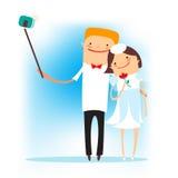 Selfie gelukkig huwelijk Royalty-vrije Stock Foto