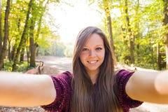 Selfie girlh Στοκ Εικόνα