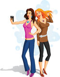 Selfie Girls Stock Photography