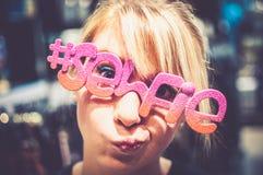 Selfie-Gläser Stockbild