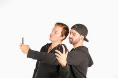 Selfie gyckel Royaltyfri Foto