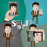 Selfie stock illustration