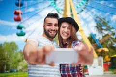 Selfie of happy dates Stock Image