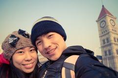 Selfie heureux 2 de couples Images libres de droits