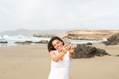 Selfie on holidays Royalty Free Stock Photography