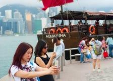 Selfie in Hong Kong royalty-vrije stock foto
