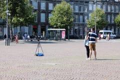Selfie i Maastricht Arkivfoton