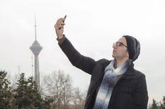 Selfie i Teheran Arkivbilder