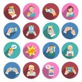 Selfie Icons Flat Stock Photos