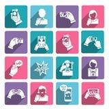 Selfie Icons Flat Stock Image