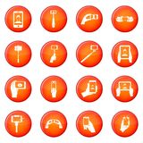 Selfie icons vector set Stock Photography