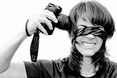 Selfie inflitto da sè Fotografia Stock
