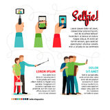 Selfie infographics Royalty Free Stock Photography