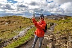 Selfie at Isle of Skye Stock Image