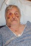 Selfie Krankenhaus des älteren Mannes Lizenzfreie Stockfotografie