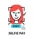 Selfie lönsymbol, för diagram och rengöringsdukdesign Royaltyfria Bilder