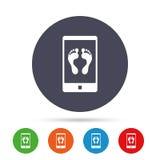 Selfie legs sign icon. Self feet photo symbol. Stock Photography