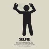 Selfie-Leute-Zeichen Lizenzfreies Stockbild