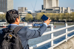 Selfie in London Royalty Free Stock Photography