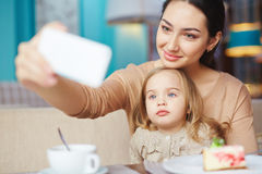 Selfie of lunch Royalty Free Stock Photos